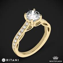 18k Yellow Gold Ritani 1RZ2801 Diamond Engagement Ring | Whiteflash
