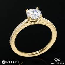 18k Yellow Gold Ritani 1RZ2851  Diamond Engagement Ring | Whiteflash