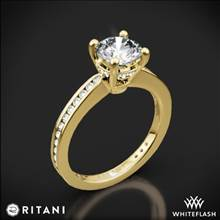 18k Yellow Gold Ritani 1RZ3447 Tapered Channel-Set Diamond Engagement Ring | Whiteflash