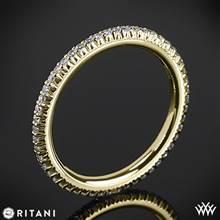 18k Yellow Gold Ritani 33700 Open Micropave Eternity Diamond Wedding Ring | Whiteflash