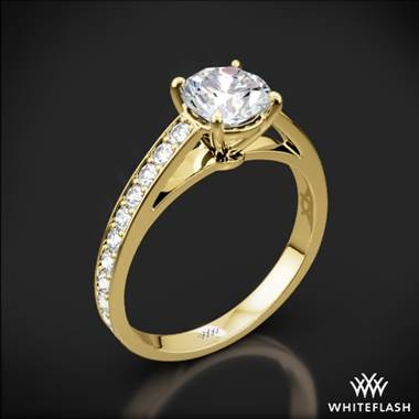 18k Yellow Gold Serendipity Diamond Engagement Ring