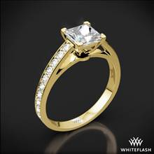 18k Yellow Gold Serendipity Diamond Engagement Ring for Princess | Whiteflash