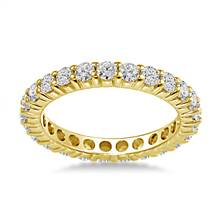 18K Yellow Gold Shared Prong Diamond Eternity Ring (1.15 - 1.35 cttw.) | B2C Jewels