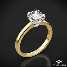 18k Yellow Gold Sierra Solitaire Engagement Ring with White Gold Head | Whiteflash