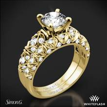 18k Yellow Gold Simon G. LP1582 Delicate Diamond Wedding Set | Whiteflash