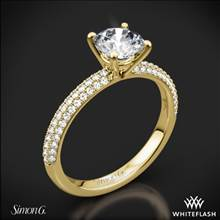 18k Yellow Gold Simon G. LP1935-D Delicate Diamond Engagement Ring | Whiteflash