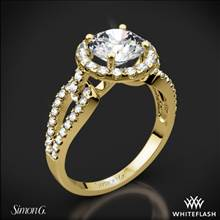 18k Yellow Gold Simon G. LP2027 Passion Halo Diamond Engagement Ring | Whiteflash