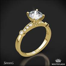 18k Yellow Gold Simon G. MR1546-D Delicate Diamond Engagement Ring | Whiteflash