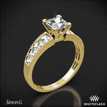 18k Yellow Gold Simon G. MR1825-S Caviar Diamond Engagement Ring for Princess | Whiteflash