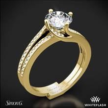 18k Yellow Gold Simon G. MR1939 Fabled Diamond Wedding Set | Whiteflash