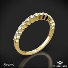 18k Yellow Gold Simon G. MR2173-D Delicate Diamond Wedding Ring | Whiteflash