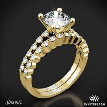 18k Yellow Gold Simon G. MR2173 Delicate Diamond Wedding Set | Whiteflash