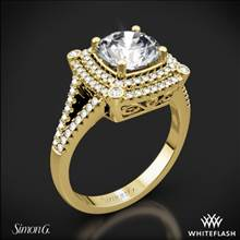 18k Yellow Gold Simon G. MR2378-A Passion Double Halo Diamond Engagement Ring | Whiteflash