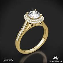 18k Yellow Gold Simon G. MR2395 Passion Halo Diamond Engagement Ring | Whiteflash