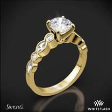 18k Yellow Gold Simon G. MR2399 Passion Diamond Engagement Ring | Whiteflash