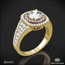 18k Yellow Gold Simon G. MR2453 Passion Double Halo Diamond Engagement Ring   Whiteflash