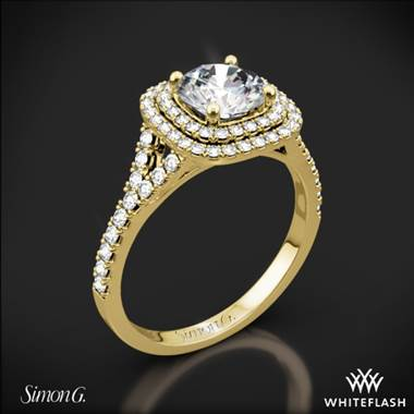 18k Yellow Gold Simon G. MR2459 Passion Halo Diamond Engagement Ring