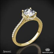 18k Yellow Gold Simon G. MR2478 Caviar Diamond Engagement Ring | Whiteflash