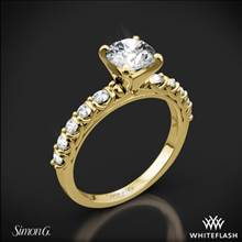 18k Yellow Gold Simon G. MR2492 Caviar Diamond Engagement Ring | Whiteflash