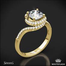18k Yellow Gold Simon G. MR2533 Passion Diamond Halo Engagement Ring | Whiteflash