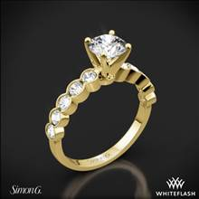 18k Yellow Gold Simon G. MR2566 Caviar Diamond Engagement Ring | Whiteflash