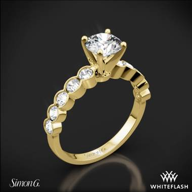 18k Yellow Gold Simon G. MR2566 Caviar Diamond Engagement Ring