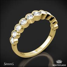 18k Yellow Gold Simon G. MR2566 Caviar Diamond Wedding Ring | Whiteflash