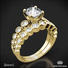 18k Yellow Gold Simon G. MR2692 Caviar Diamond Wedding Set | Whiteflash