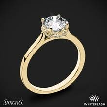 18k Yellow Gold Simon G. MR2945 Solitaire Engagement Ring | Whiteflash