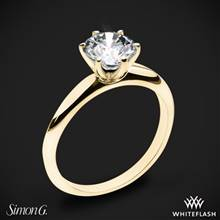 18k Yellow Gold Simon G. MR2948 Solitaire Engagement Ring | Whiteflash