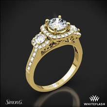 18k Yellow Gold Simon G. NR464 Passion Three Stone Engagement Ring | Whiteflash