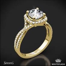 18k Yellow Gold Simon G. NR468 Passion Halo Diamond Engagement Ring | Whiteflash
