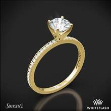 18k Yellow Gold Simon G. PR108 Classic Romance Diamond Engagement Ring | Whiteflash