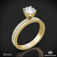18k Yellow Gold Simon G. PR108 Classic Romance Diamond Wedding Set | Whiteflash