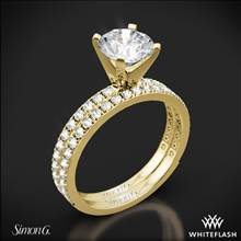 18k Yellow Gold Simon G. PR148 Passion Diamond Wedding Set | Whiteflash