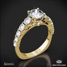 18k Yellow Gold Simon G. TR426 Caviar Diamond Engagement Ring   Whiteflash