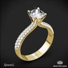 18k Yellow Gold Simon G. TR431 Caviar Diamond Engagement Ring | Whiteflash