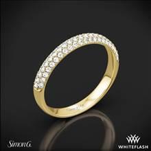 18k Yellow Gold Simon G. TR431 Caviar Diamond Wedding Ring | Whiteflash
