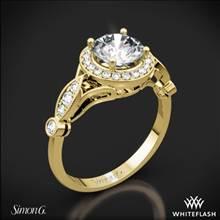 18k Yellow Gold Simon G. TR523 Passion Halo Diamond Engagement Ring | Whiteflash
