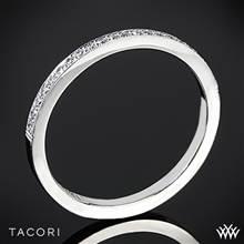 18k Yellow Gold Tacori 2526 Ribbon Half Eternity Millgrain Diamond Wedding Ring | Whiteflash