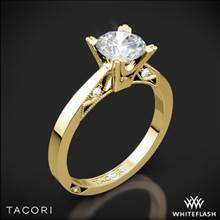 18k Yellow Gold Tacori 2584RD Simply Tacori Flat-Edge Solitaire Engagement Ring | Whiteflash