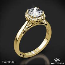 18k Yellow Gold Tacori 2620RD Dantela Crown Solitaire Engagement Ring for 1ct center | Whiteflash