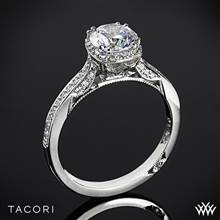 18k Yellow Gold Tacori 2620RDP Dantela Crown Diamond Engagement Ring (0.25ctw, For 1ct Center Diamond) | Whiteflash