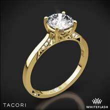 18k Yellow Gold Tacori 2638RD Dantela Crescent Motif Solitaire Engagement Ring | Whiteflash