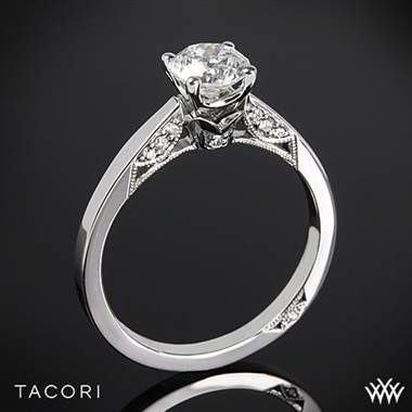 18k Yellow Gold Tacori 3002 Simply Tacori Crescent Complete Solitaire Engagement Ring with 0.75ct Diamond Center