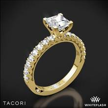 18k Yellow Gold Tacori 32-2PR Clean Crescent Half Eternity for Princess Diamond Engagement Ring | Whiteflash
