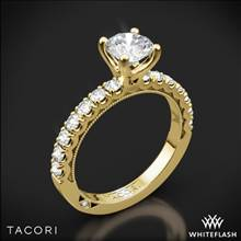 18k Yellow Gold Tacori 33-2RD Clean Crescent Half Eternity Diamond Engagement Ring | Whiteflash