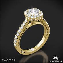 18k Yellow Gold Tacori 37-2CU Full Bloom Cushion Halo Diamond Engagement Ring | Whiteflash