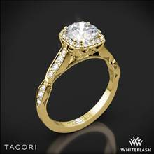 18k Yellow Gold Tacori 39-2CU Sculpted Crescent Ribbon Diamond Engagement Ring | Whiteflash