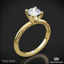 18k Yellow Gold Tacori 40-1.5RD Sculpted Crescent Millgrain Solitaire Engagement Ring   Whiteflash